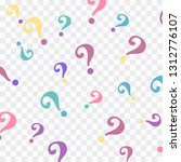 question mark pattern. question ... | Shutterstock .eps vector #1312776107