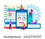 the optimization and... | Shutterstock . vector #1312776707