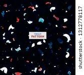 terrazzo flooring vector...   Shutterstock .eps vector #1312778117