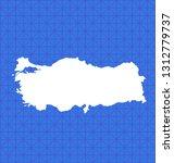 vector map of turkey | Shutterstock .eps vector #1312779737