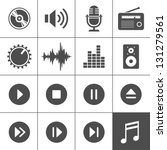 music and sound icons. vector... | Shutterstock .eps vector #131279561