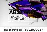 3d triangle geometric... | Shutterstock .eps vector #1312800017