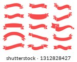 banners and ribbons set... | Shutterstock .eps vector #1312828427