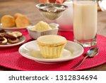 powdered milk dessert | Shutterstock . vector #1312834694