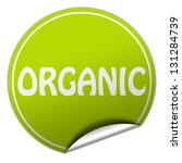 organic sticker | Shutterstock . vector #131284739