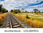 railway and blue sky in the... | Shutterstock . vector #131284901