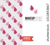 beauty salon flyer promo card.... | Shutterstock .eps vector #1312853867