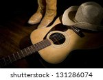 spotlight on country guitar ... | Shutterstock . vector #131286074