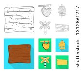 vector illustration of raw  and ... | Shutterstock .eps vector #1312861217