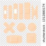 elastic medical bandages or ...   Shutterstock .eps vector #1312880174