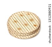 happy passover holiday   matzah ... | Shutterstock .eps vector #1312880921