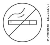 no smoking thin line icon ... | Shutterstock .eps vector #1312883777