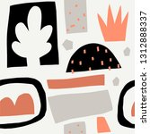 seamless pattern with cut out... | Shutterstock .eps vector #1312888337