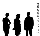 isolated  silhouette people... | Shutterstock .eps vector #1312895204