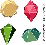 gemstone and jewelry vector... | Shutterstock .eps vector #1312899584