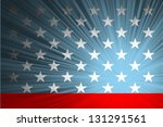 american flag with the rays | Shutterstock .eps vector #131291561