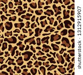seamless pattern of leopard skin | Shutterstock .eps vector #1312915907