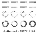 loading bar icons set  load... | Shutterstock . vector #1312919174