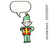cartoon christmas elf | Shutterstock . vector #131293247