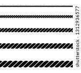 seamless of black rope on white ...   Shutterstock .eps vector #1312936577