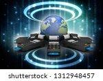 3d illustration swipe machine  | Shutterstock . vector #1312948457