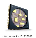 CPU. Inside the chip concept. - stock photo