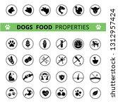 dog's food properties icon set  ... | Shutterstock .eps vector #1312957424