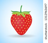 strawberry fruit illustration ... | Shutterstock .eps vector #1312963697