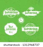 organic raw superfood vector...   Shutterstock .eps vector #1312968737