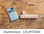 cubes with the german message ... | Shutterstock . vector #1312972064