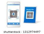qr code payment smartphone app... | Shutterstock .eps vector #1312974497