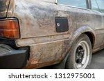 a neglect vintage car...   Shutterstock . vector #1312975001