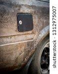 a neglect vintage car...   Shutterstock . vector #1312975007