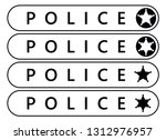 police label sticker. emergency ... | Shutterstock .eps vector #1312976957