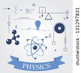 Постер, плакат: symbols of physics vector