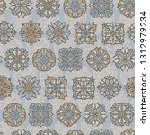 abstract seamless pattern with... | Shutterstock .eps vector #1312979234