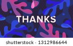 thanks banner. blue and pink... | Shutterstock .eps vector #1312986644