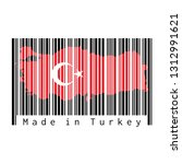barcode set the shape to turkey ... | Shutterstock .eps vector #1312991621