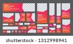 set of web banner of standard... | Shutterstock .eps vector #1312998941