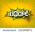 boom. background with boom... | Shutterstock . vector #1312998971