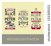 set of wedding stamps...   Shutterstock .eps vector #131300321