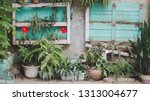 flowers and trees along the way | Shutterstock . vector #1313004677