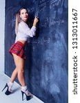 attractive striptease dancer... | Shutterstock . vector #1313011667