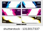 banner background. modern... | Shutterstock .eps vector #1313017337