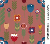 pattern of colored flowers of... | Shutterstock .eps vector #131302091