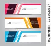 vector abstract geometric...   Shutterstock .eps vector #1313030897