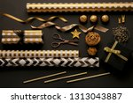 christmas gift boxes with... | Shutterstock . vector #1313043887