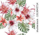 bright  tropical seamless... | Shutterstock . vector #1313045714