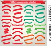 ribbon banners vector collection | Shutterstock .eps vector #131305274