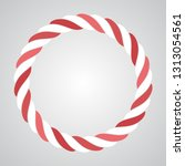 vector rope abstract circle.... | Shutterstock .eps vector #1313054561